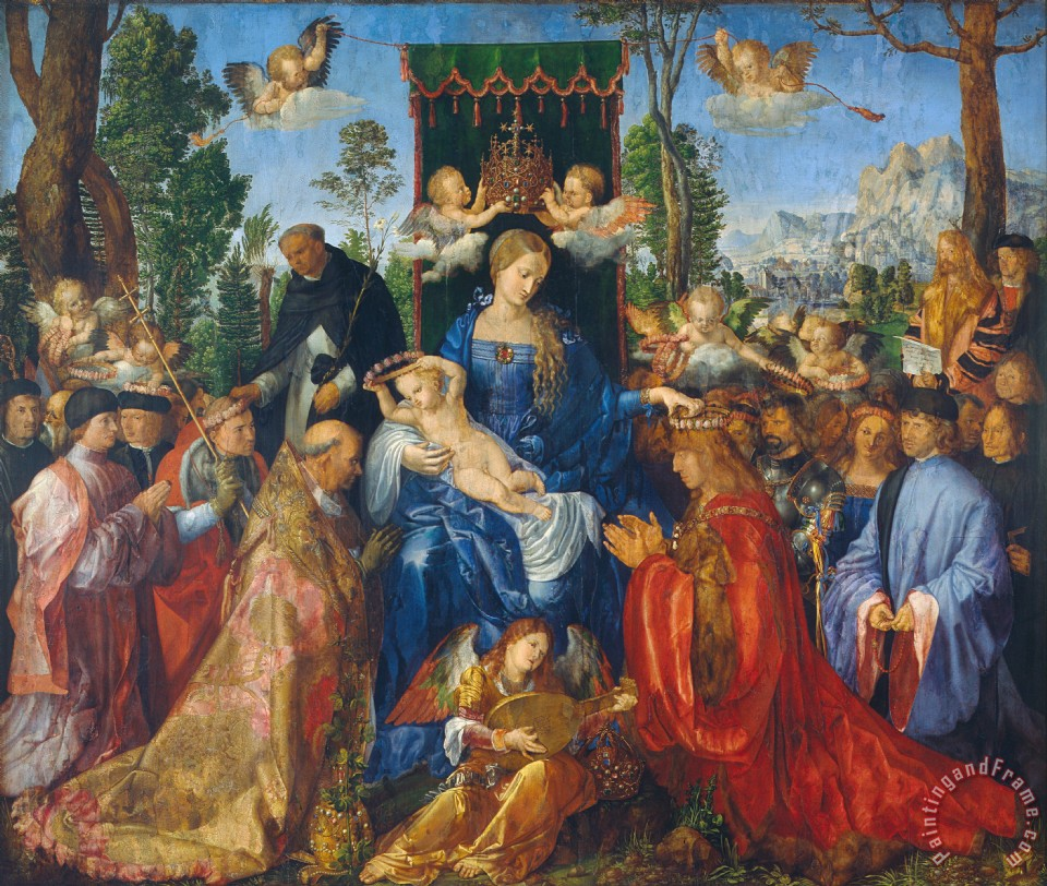 Albrecht Durer Feast Of Rose Garlands Art Painting