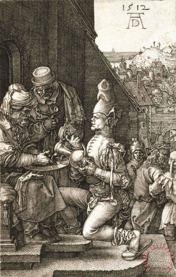 Pilate Washing His Hands painting - Albrecht Durer Pilate Washing His Hands Art Print
