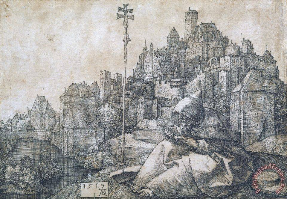 Albrecht Durer Saint Anthony Art Print