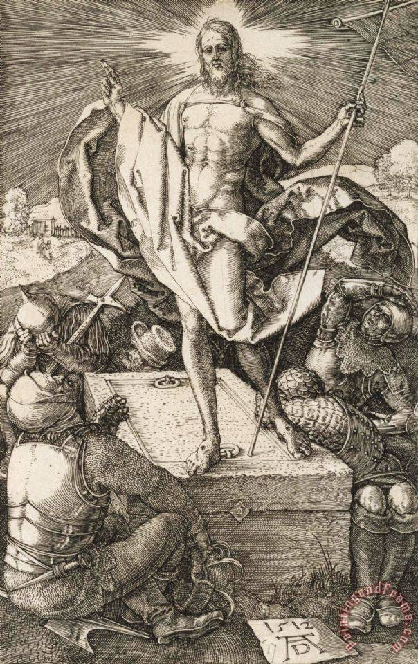 The Resurrection painting - Albrecht Durer The Resurrection Art Print