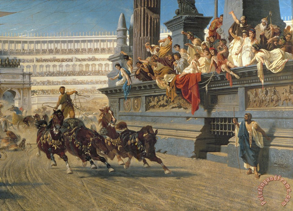 The Chariot Race painting - Alexander von Wagner The Chariot Race Art Print