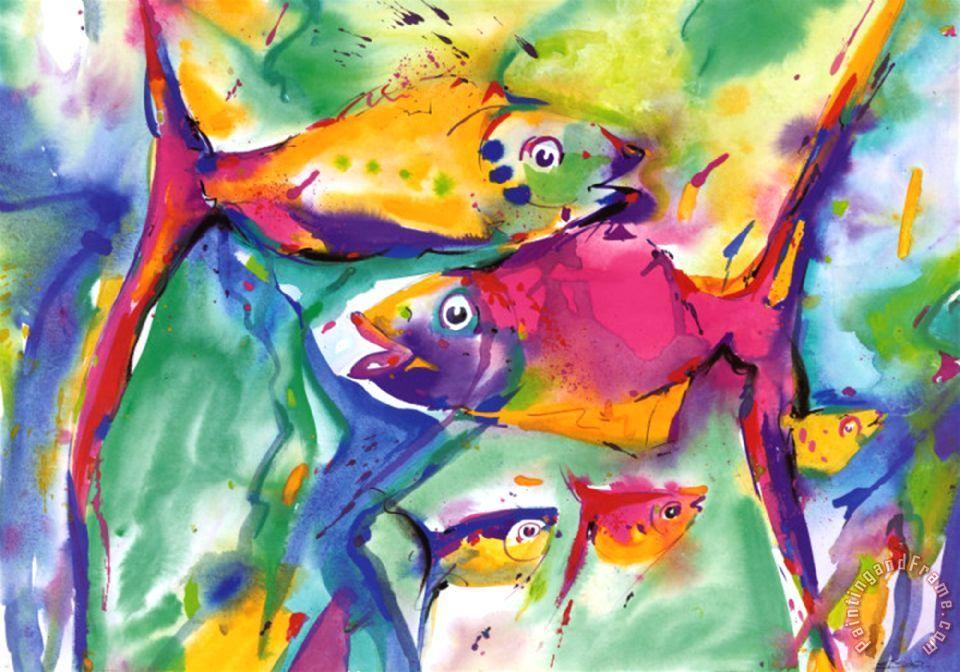 Colorful Fish Painting Colorful Fish Painting