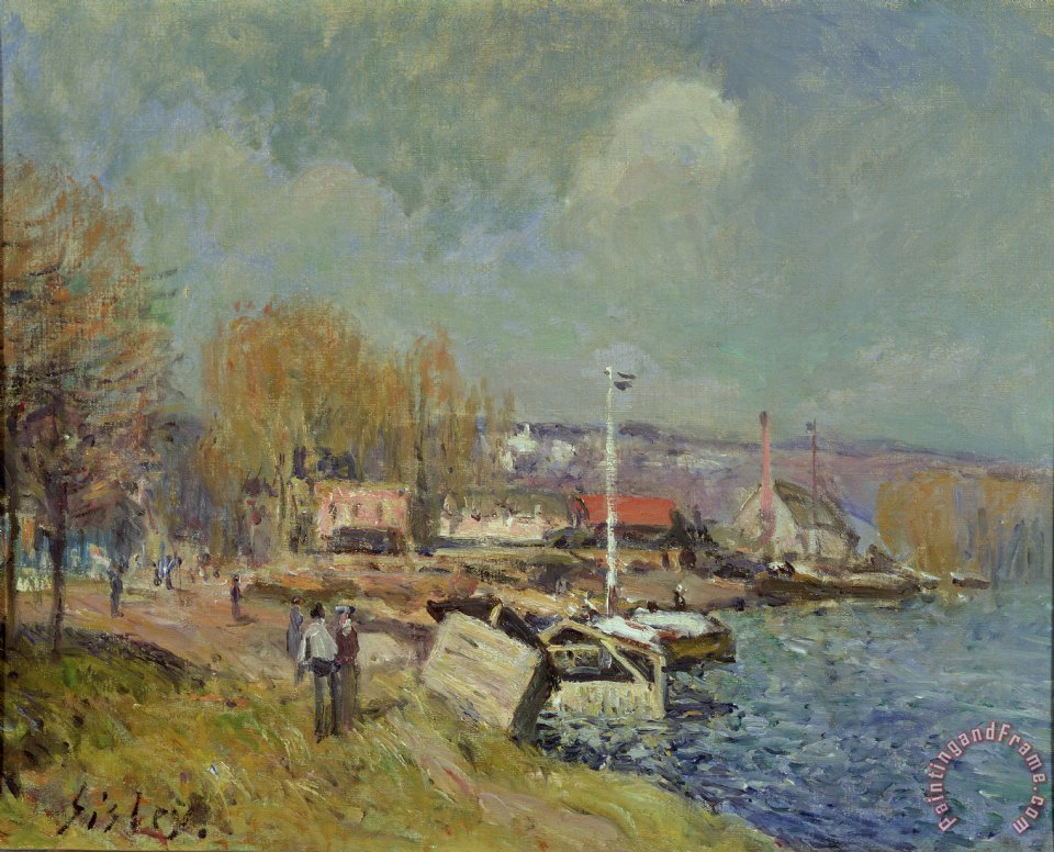 alfred sisley the seine at port marly painting the seine at port marly print for sale