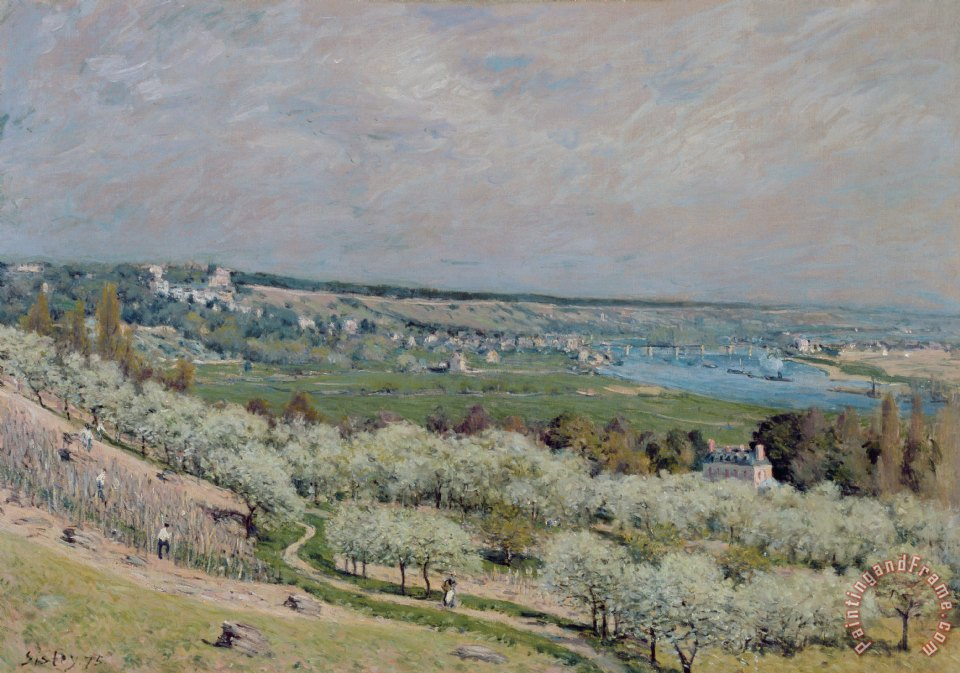 The Terrace at Saint Germain painting - Alfred Sisley The Terrace at Saint Germain Art Print