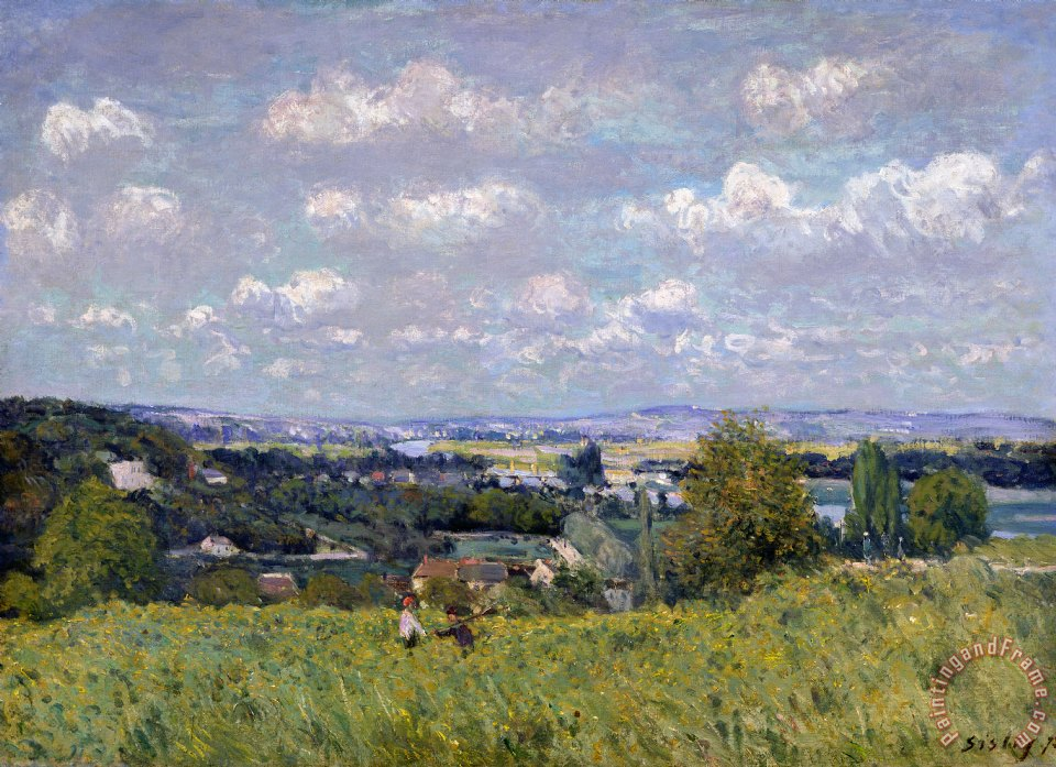The Valley of the Seine at Saint Cloud painting - Alfred Sisley The Valley of the Seine at Saint Cloud Art Print