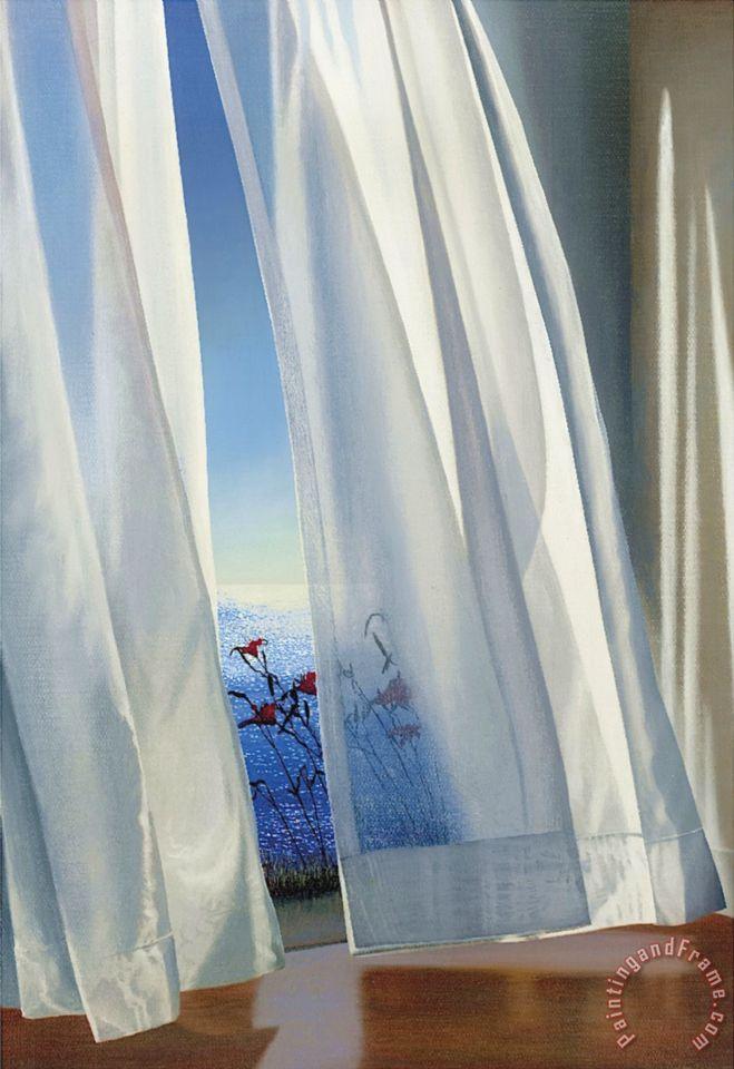 Alice Dalton Brown Twilight Lilies Painting Twilight
