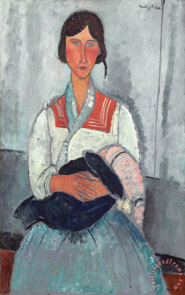 Gypsy Woman With Baby painting - Amedeo Modigliani Gypsy Woman With Baby Art Print
