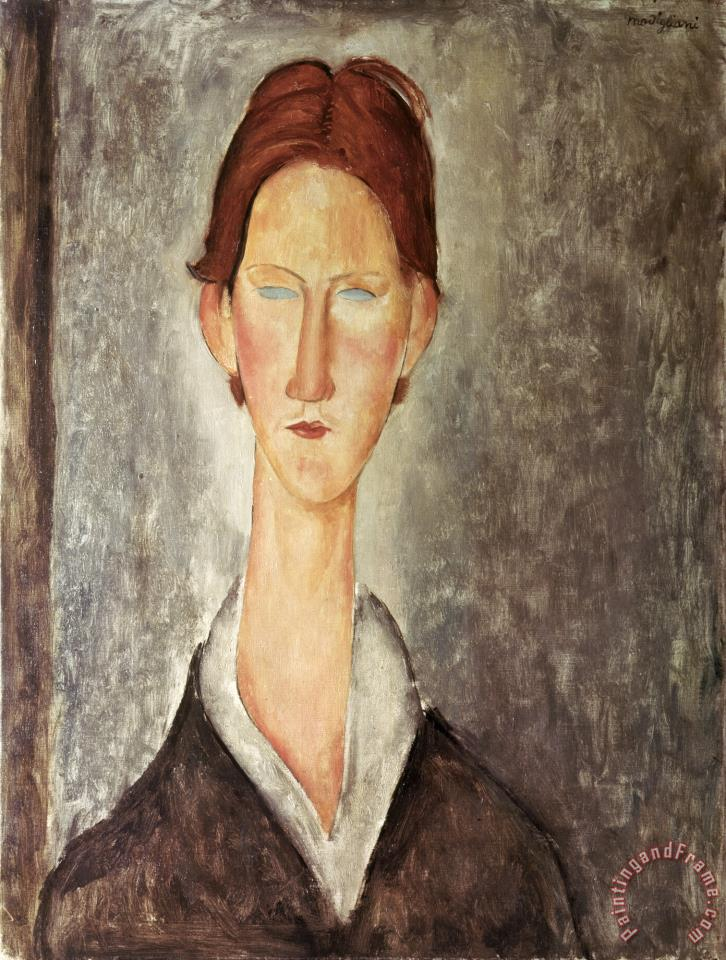Portrait of a Student painting - Amedeo Modigliani Portrait of a Student Art Print