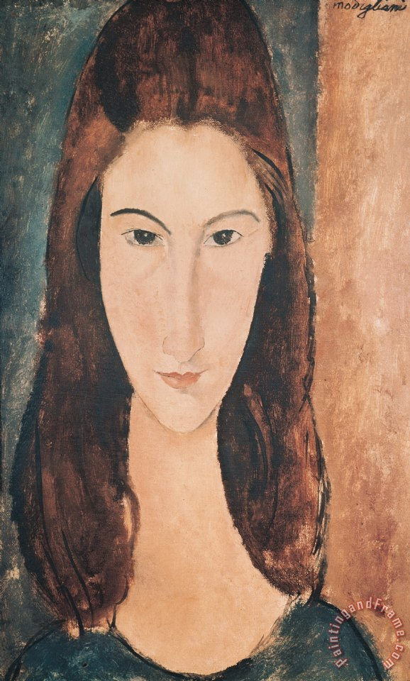 Portrait of a Young Girl painting - Amedeo Modigliani Portrait of a Young Girl Art Print