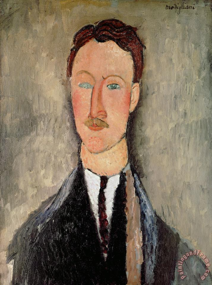 Portrait of Leopold Survage (1879 1968) painting - Amedeo Modigliani Portrait of Leopold Survage (1879 1968) Art Print