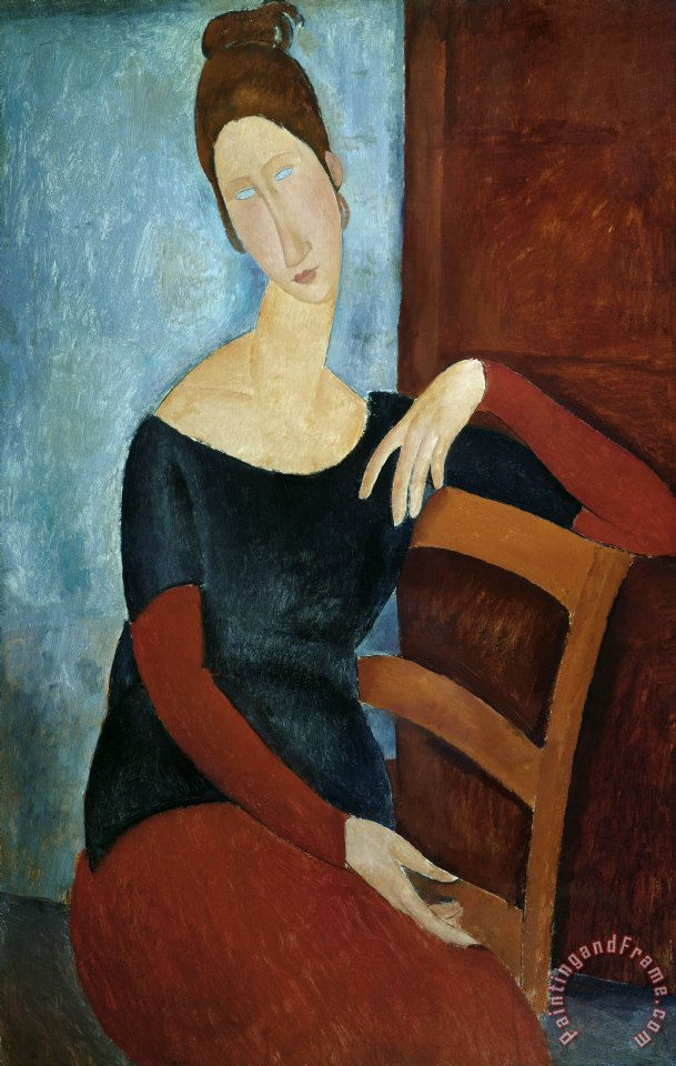The Artist's Wife painting - Amedeo Modigliani The Artist's Wife Art Print