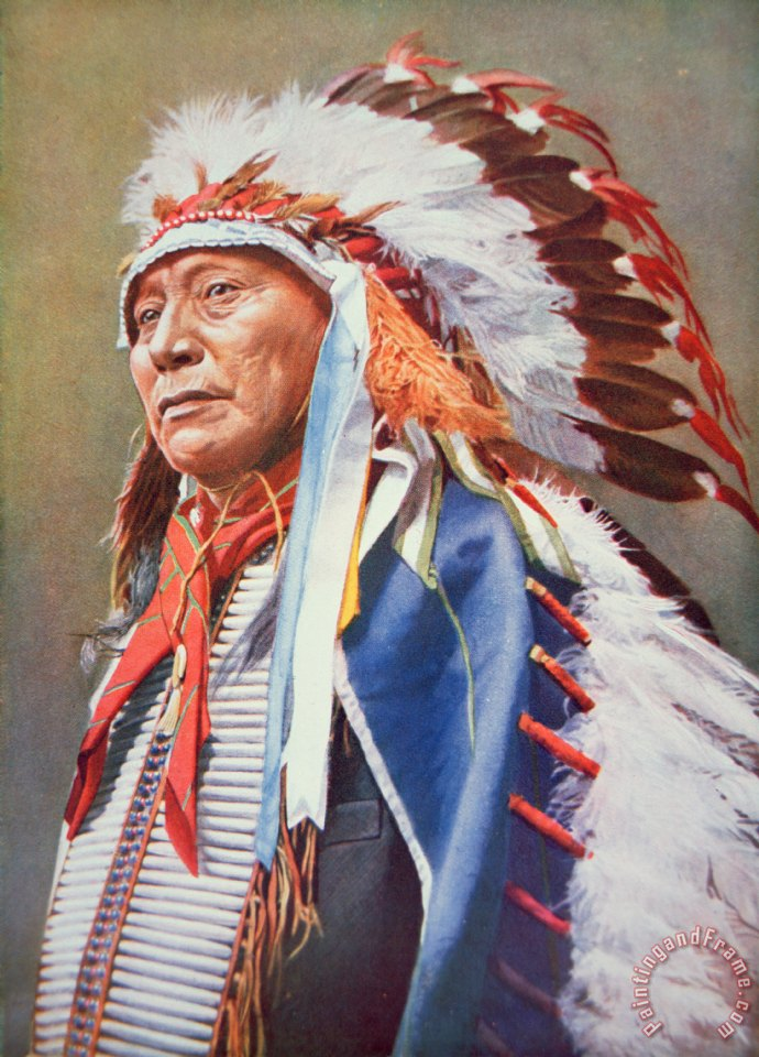 Chief Hollow Horn Bear painting - American School Chief Hollow Horn Bear Art Print