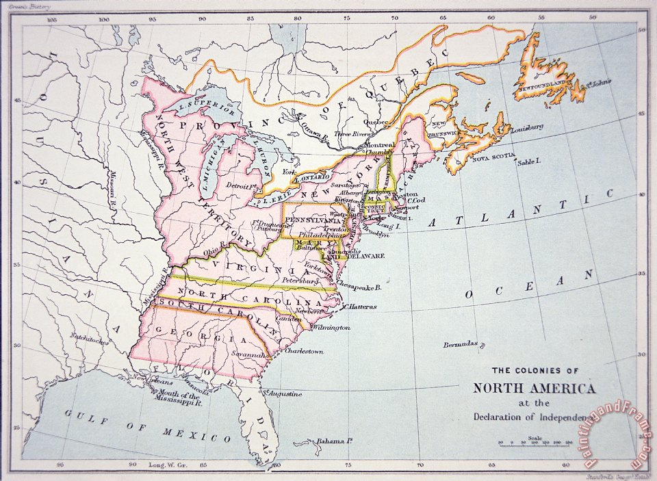 American School Map of the Colonies of North America at the time of