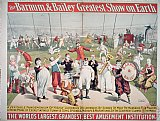 After School Prints - Poster advertising the Barnum and Bailey Greatest Show on Earth by American School