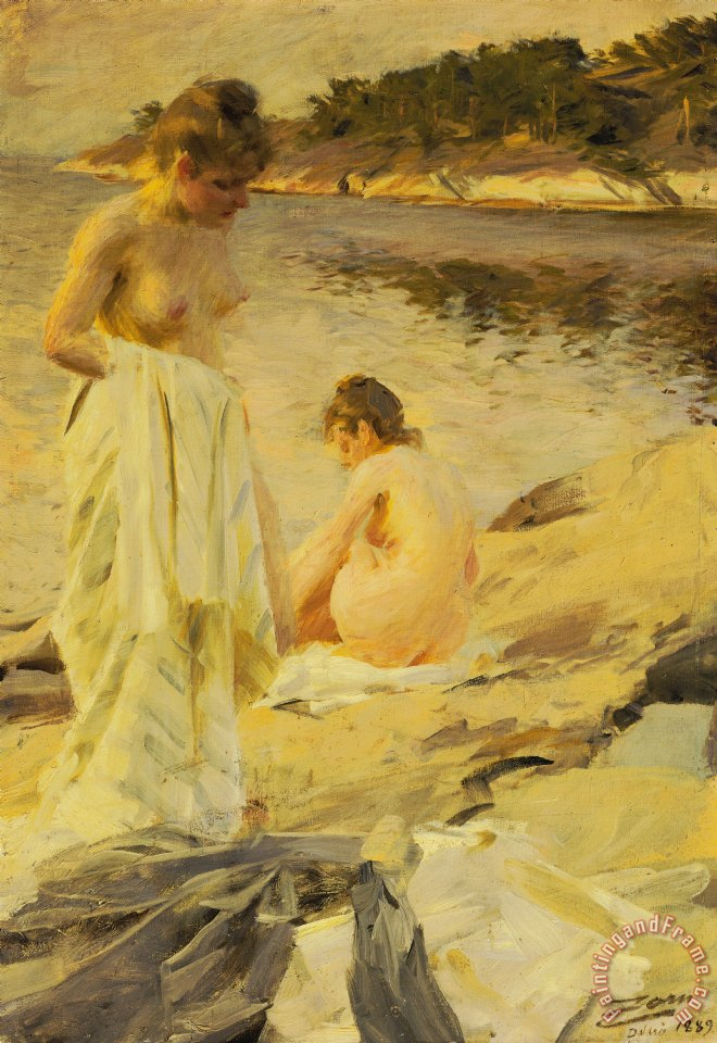 The Bathers painting - Anders Leonard Zorn The Bathers Art Print