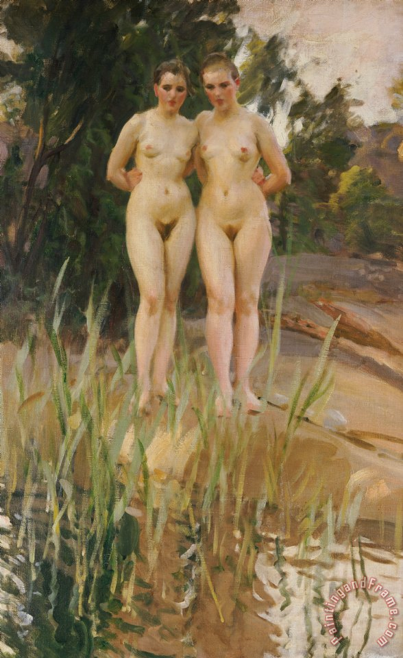 Two Friends painting - Anders Leonard Zorn Two Friends Art Print