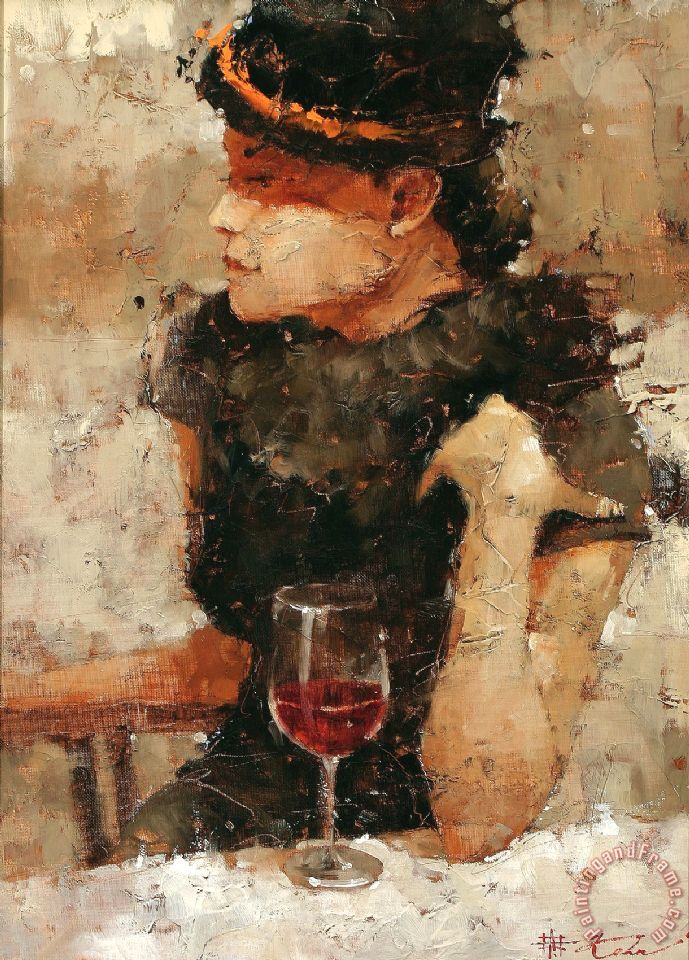 He Is Fashionably Late painting - Andre Kohn He Is Fashionably Late Art Print