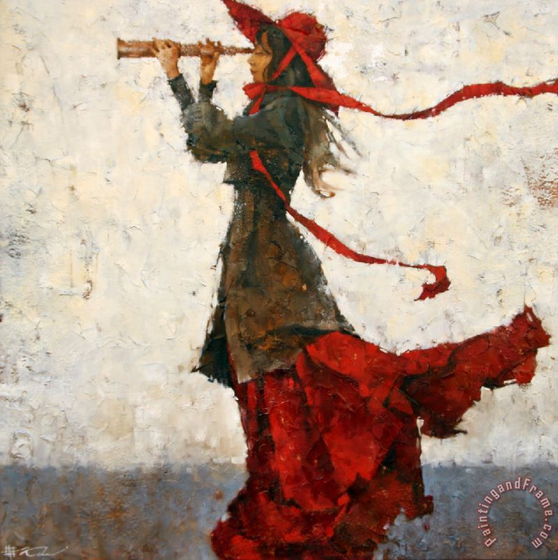 Looking for Summer painting - Andre Kohn Looking for Summer Art Print