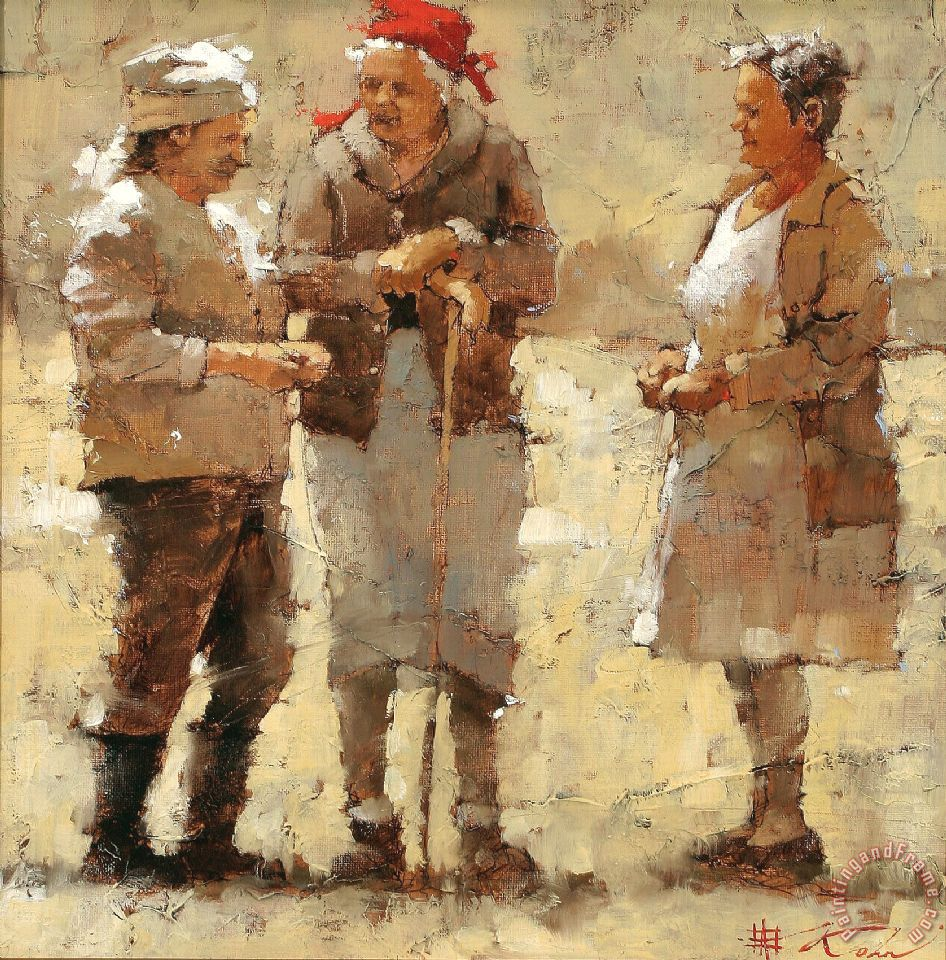 Andre kohn neighborhood gossips painting neighborhood for Painting for sale by artist