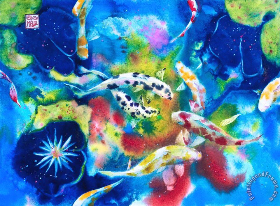 Andre mehu gotan koi painting gotan koi print for sale for Koi prints for sale