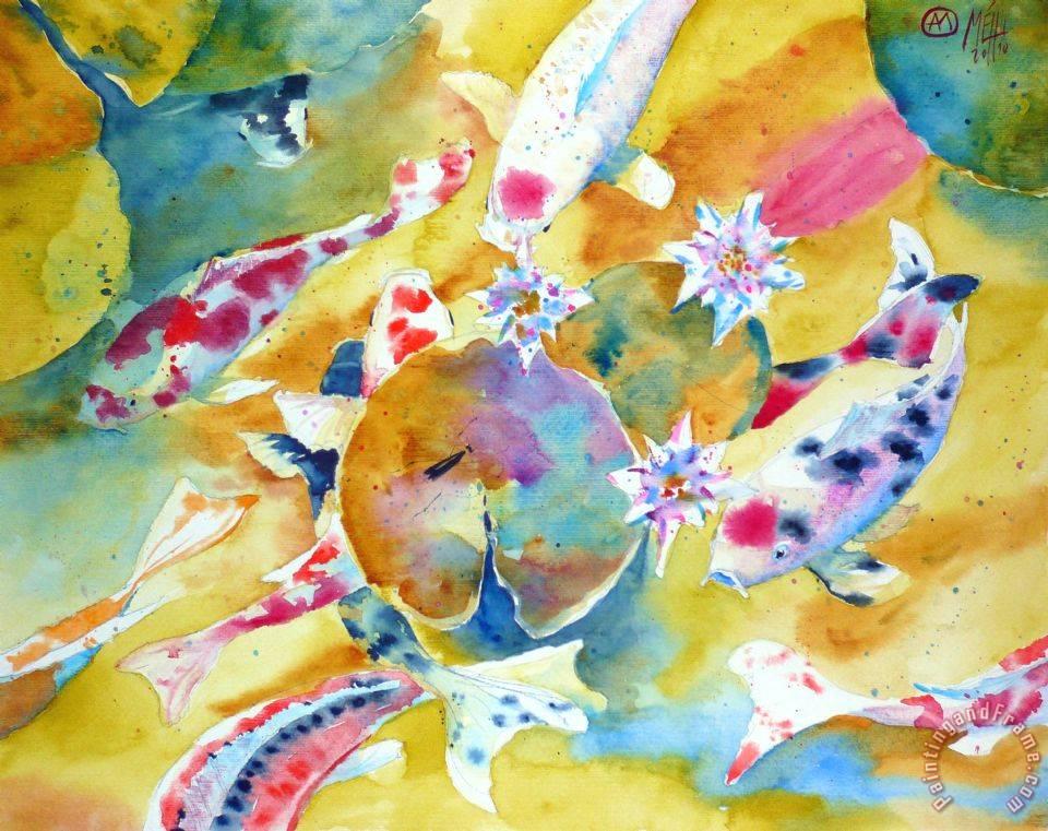 Andre mehu koi 34 painting koi 34 print for sale for Koi prints for sale