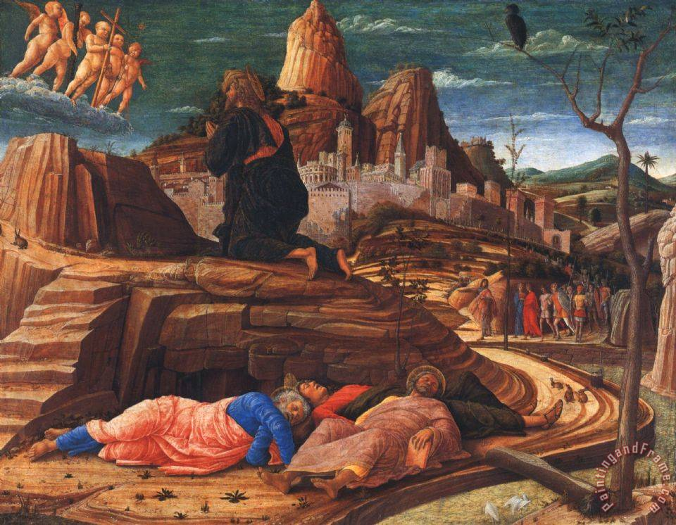 Andrea Mantegna Agony In The Garden Painting Agony In