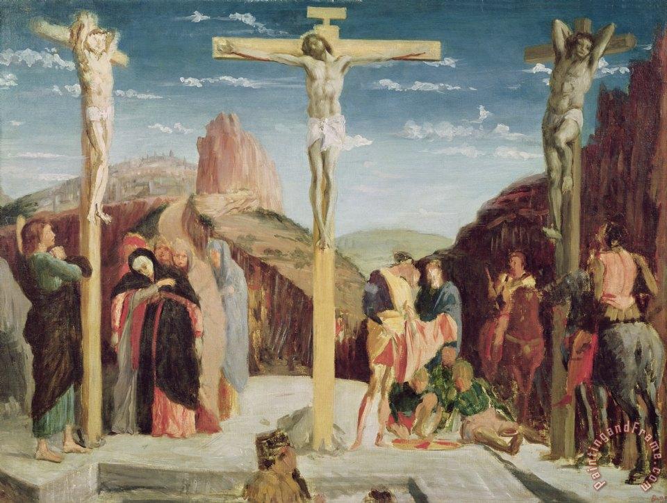 Andrea Mantegna Calvary Painting Calvary Print For Sale