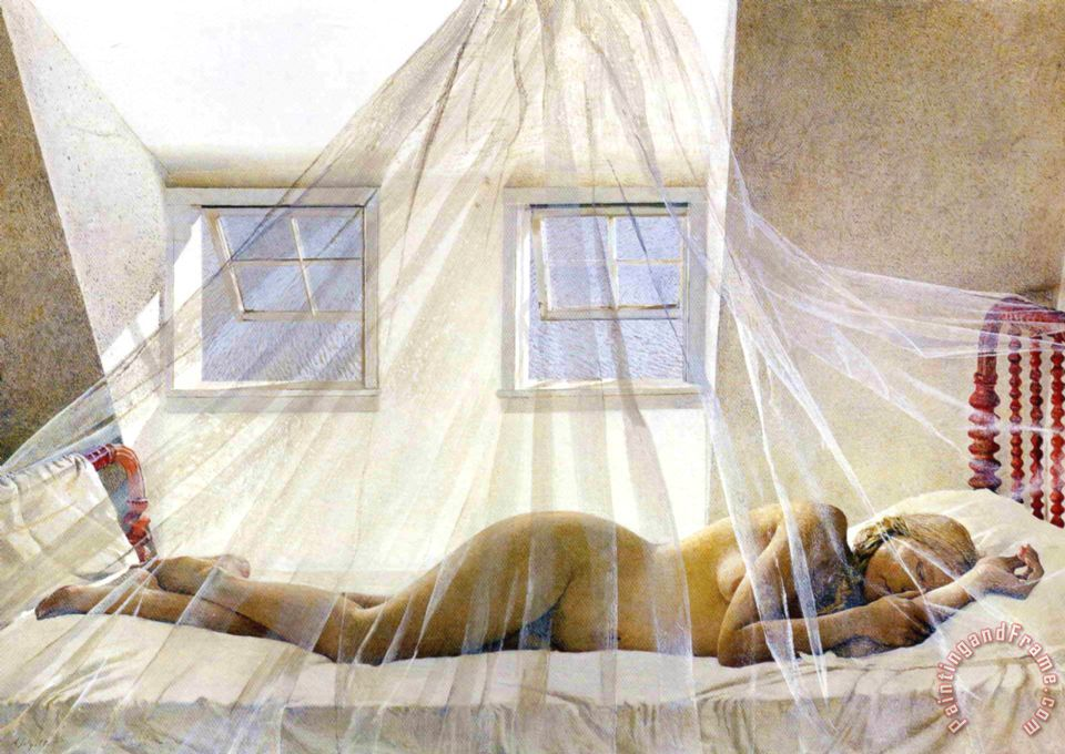 andrew wyeth Day Dream 1980 painting - Day Dream 1980 print for sale