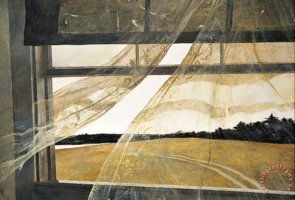 Wind From The Sea 1947 painting - andrew wyeth Wind From The Sea 1947 Art Print
