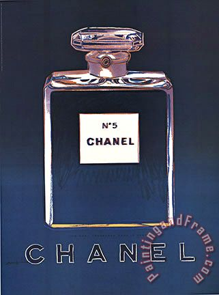 Blue Chanel painting - Andy Warhol Blue Chanel Art Print