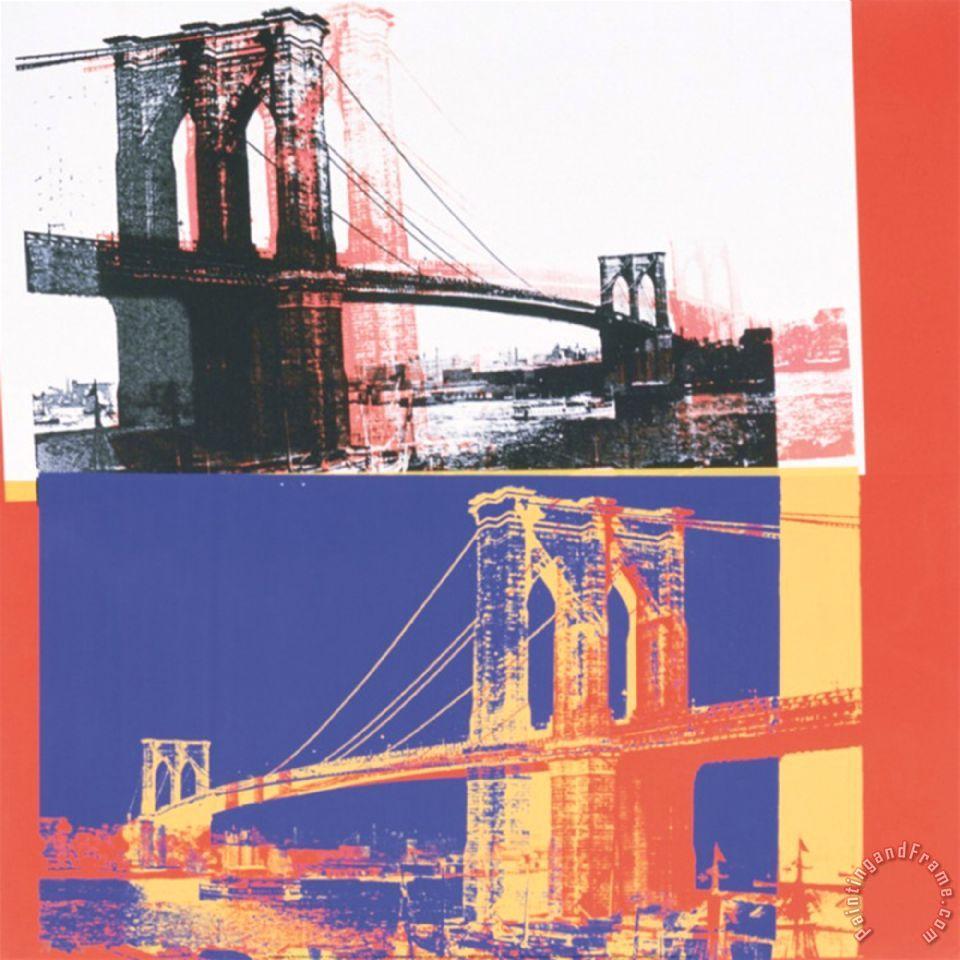 Tempered Glass Wall Art, New York Brooklyn Bridge 1 ...  |Brooklyn Bridge Painting Black And White