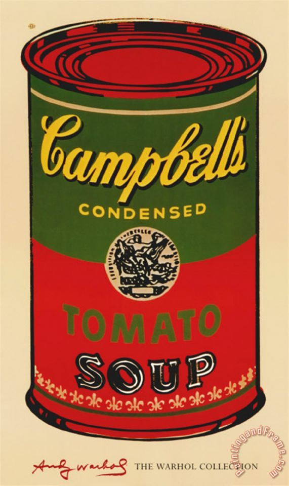 Andy Warhol Campbell S Soup Can 1965 Green And Red ...