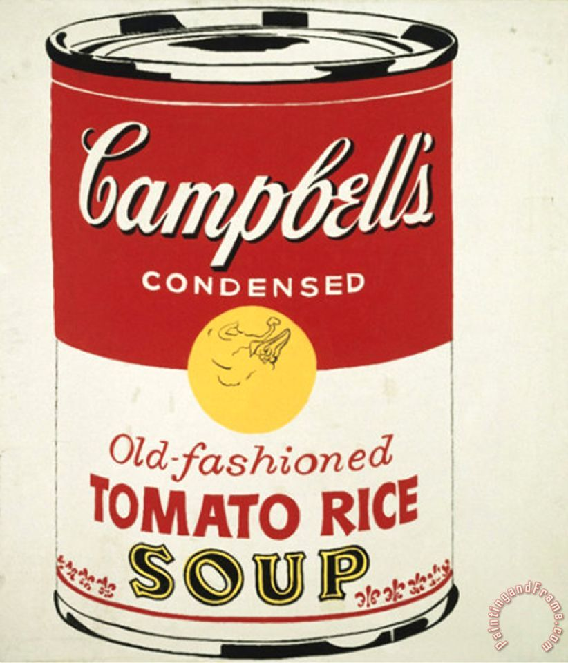andy warhol campbell s soup can c 1962 old fashioned tomato rice painting campbell s soup can. Black Bedroom Furniture Sets. Home Design Ideas