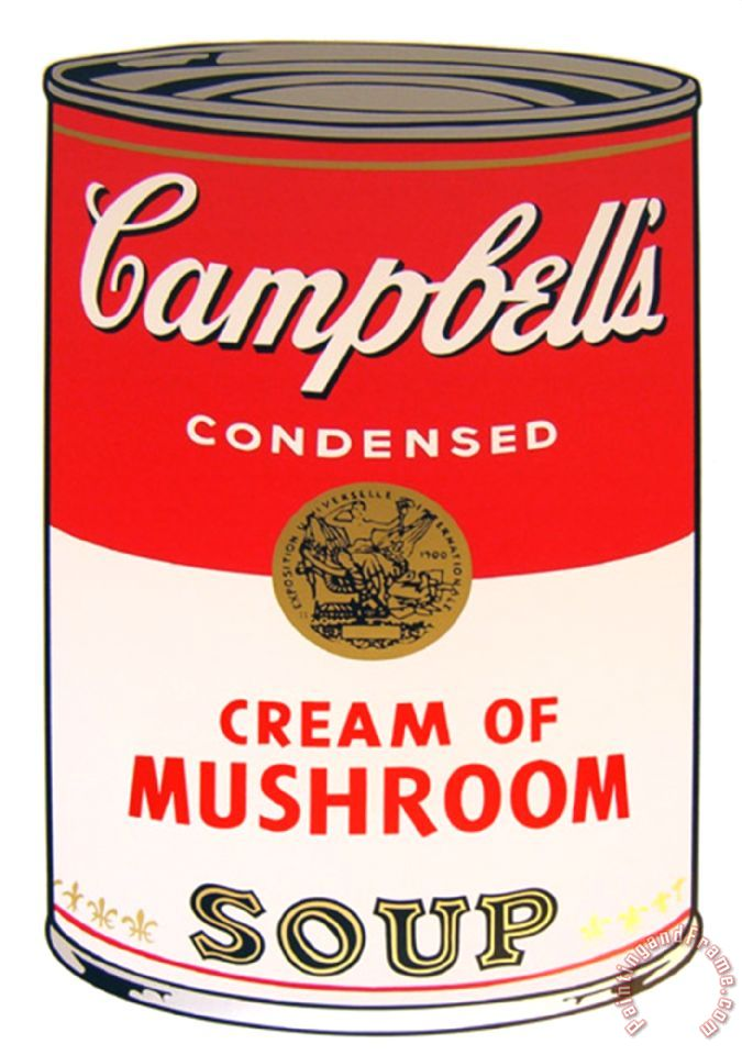 ... Soup Cream of Mushroom painting - Campbell S Soup Cream of Mushroom
