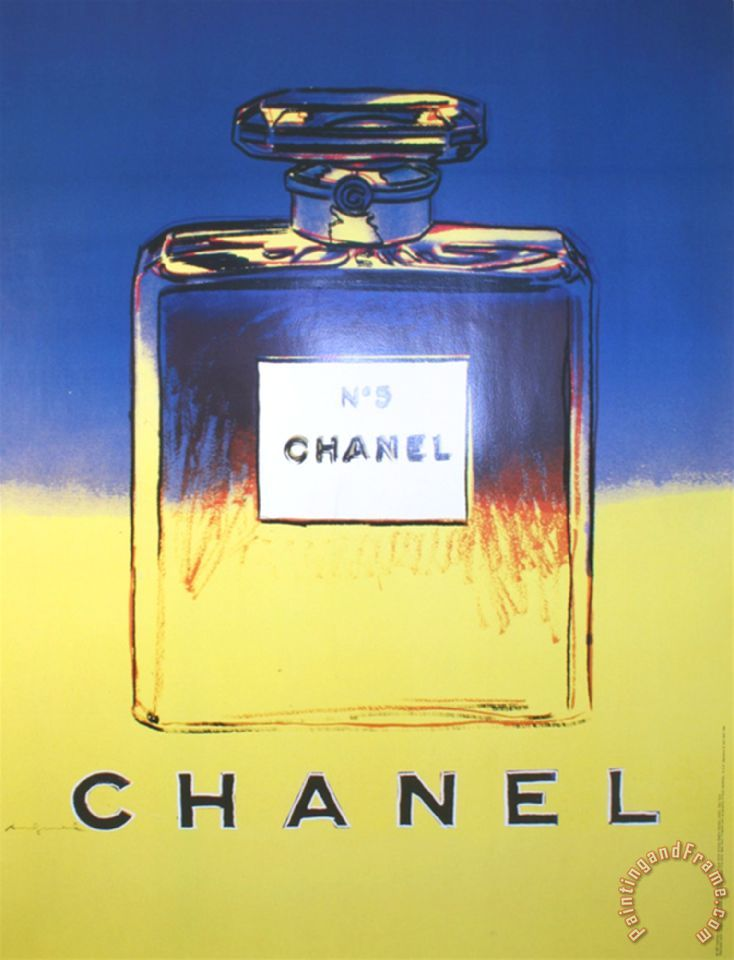 Chanel Yellow And Blue painting - Andy Warhol Chanel Yellow And Blue Art Print