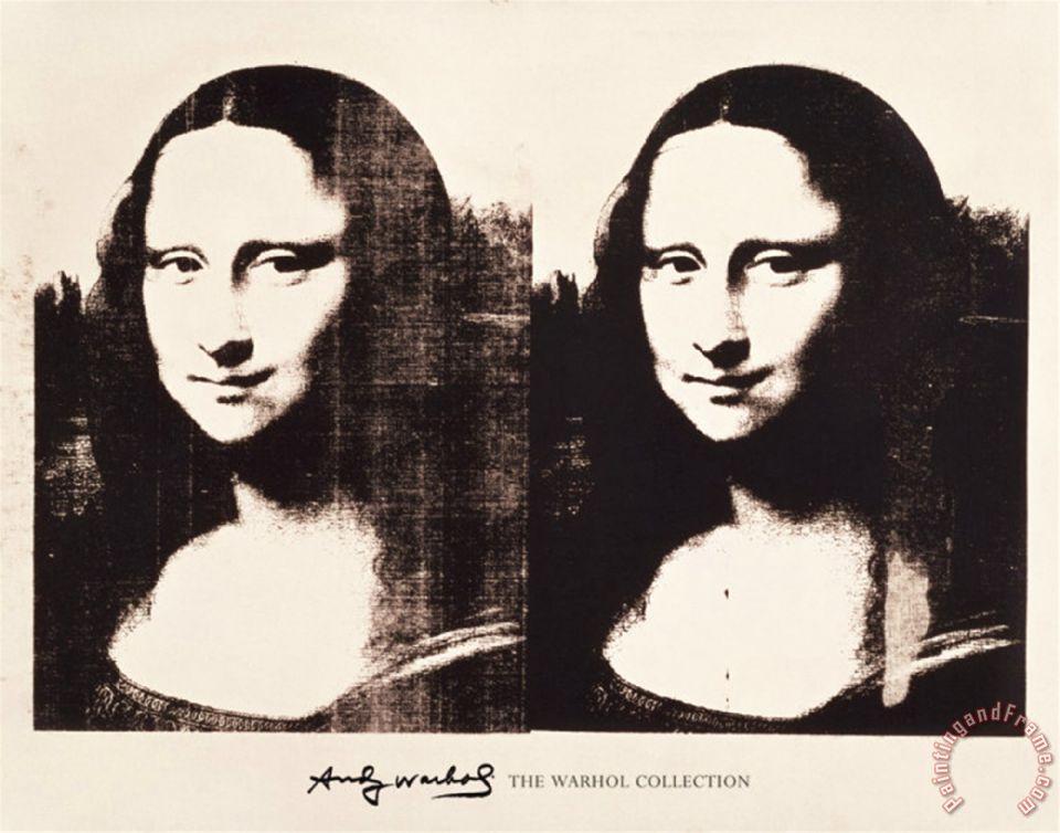 Superbe Andy Warhol Double Mona Lisa 1963 painting - Double Mona Lisa 1963 #NT_08