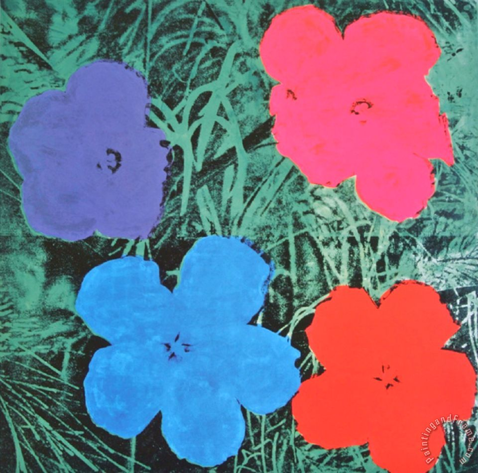 Andy Warhol Flowers II painting - Flowers II print for sale