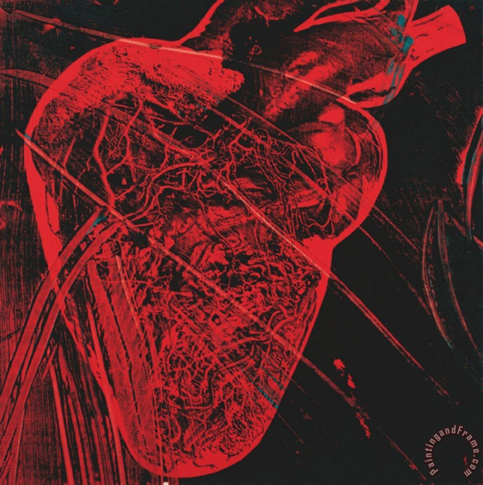 Human Heart C 1979 Red with Veins painting - Andy Warhol Human Heart C 1979 Red with Veins Art Print