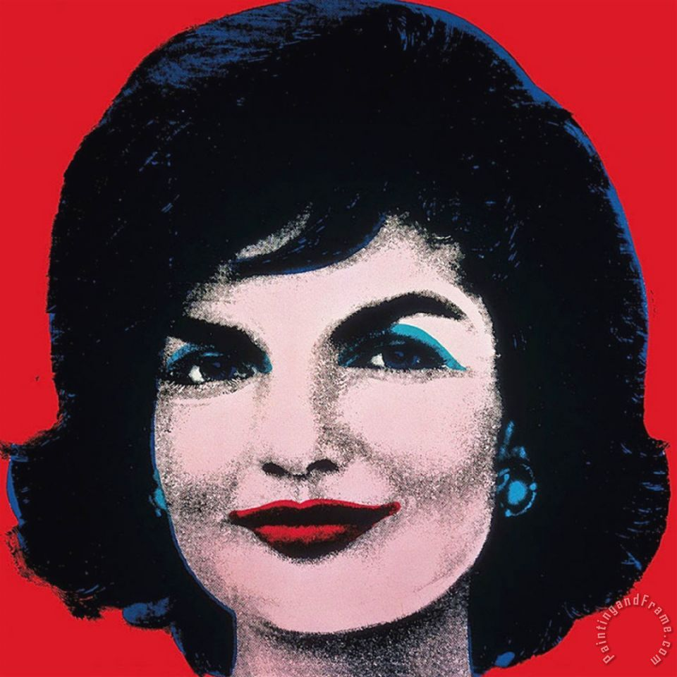 andy warhol jackie 1964 painting jackie 1964 print for sale. Black Bedroom Furniture Sets. Home Design Ideas