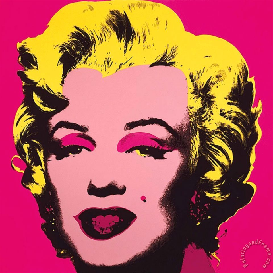 Marilyn Monroe 1967 Hot Pink painting - Andy Warhol Marilyn Monroe 1967 Hot Pink Art Print