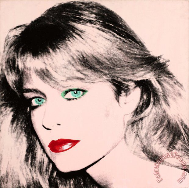 Andy Warhol Portrait of Farrah Fawcett Art Painting