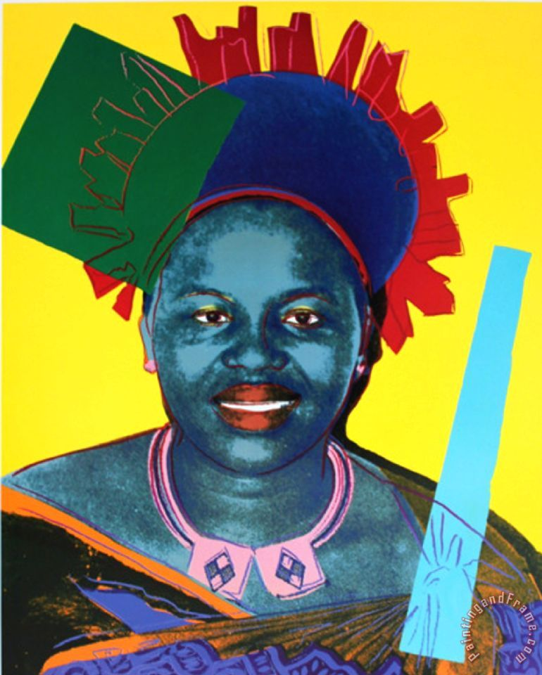 Queen Ntombi Twala of Swaziland From Reigning Queens painting - Andy Warhol Queen Ntombi Twala of Swaziland From Reigning Queens Art Print
