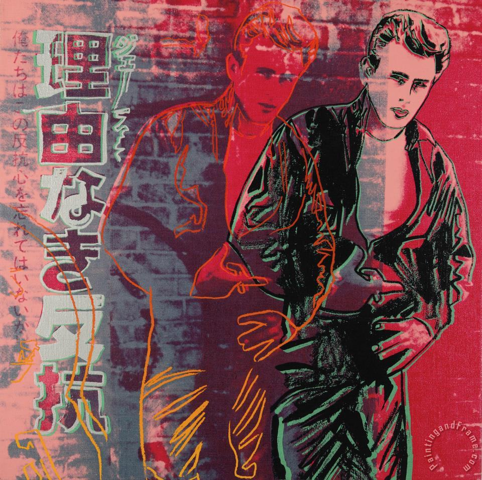 Andy Warhol Rebel Without A Cause James Dean Painting