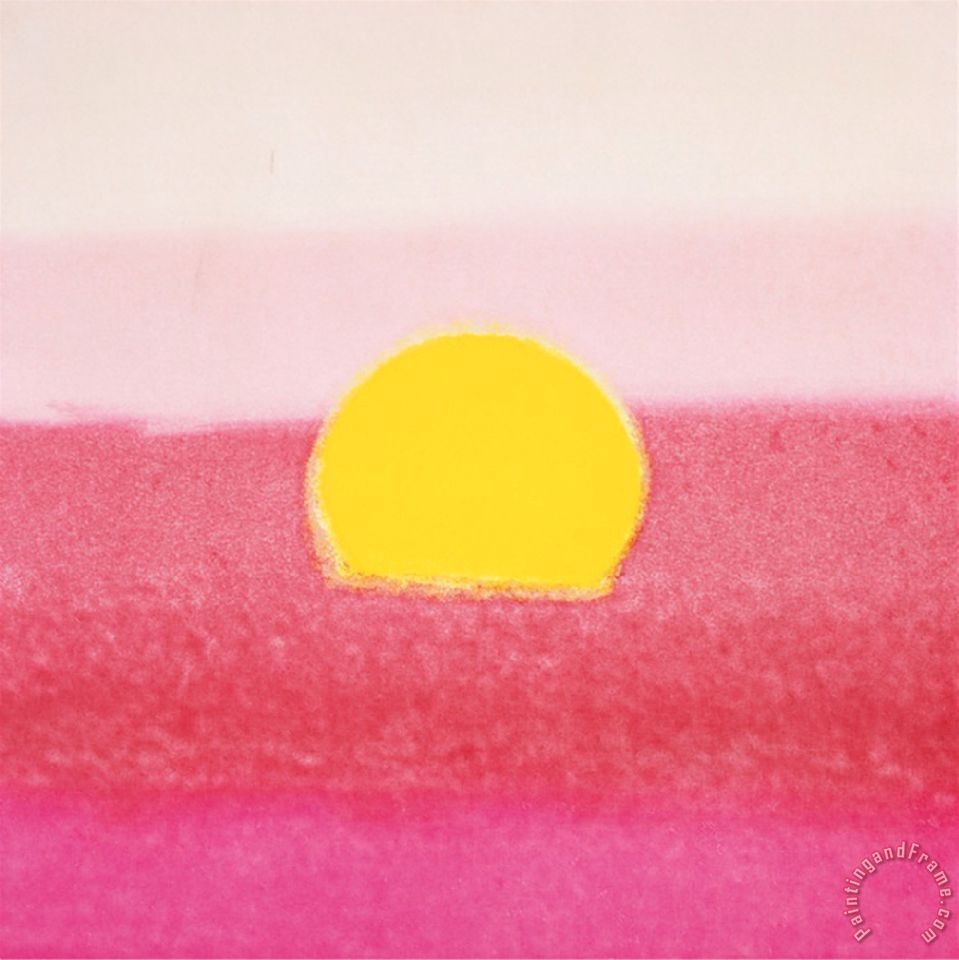 Andy Warhol Sunset C 1972 40 40 Pink Art Painting