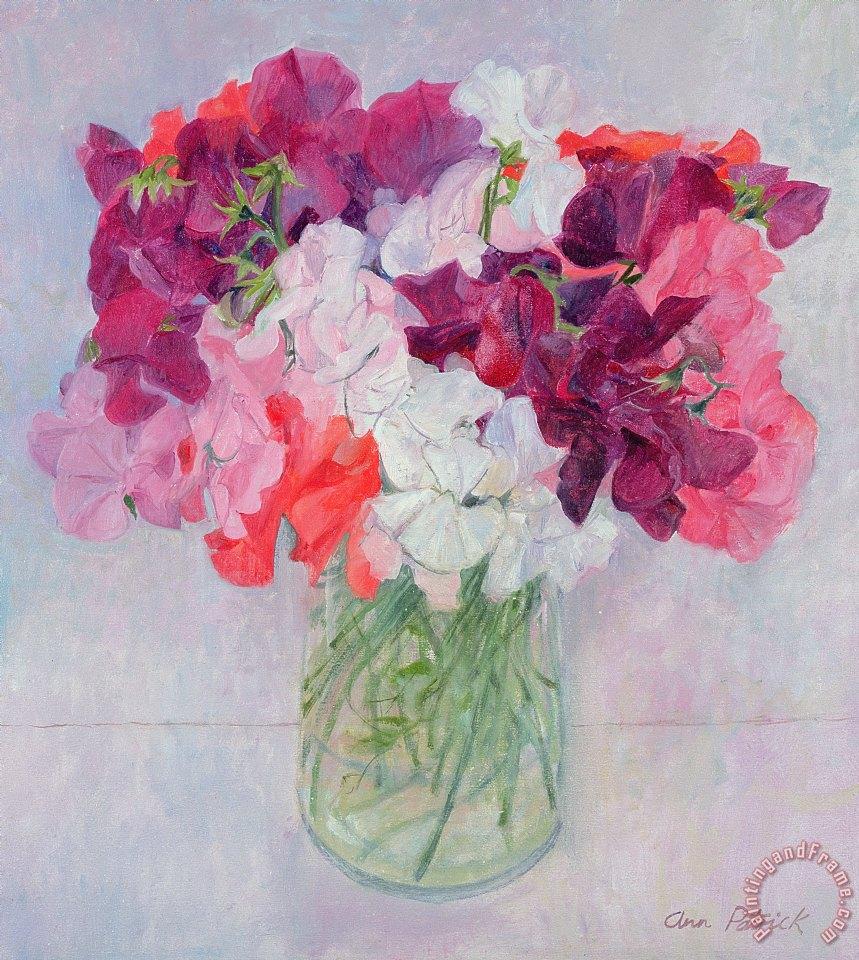 Ann Patrick Sweet Peas Painting Sweet Peas Print For Sale