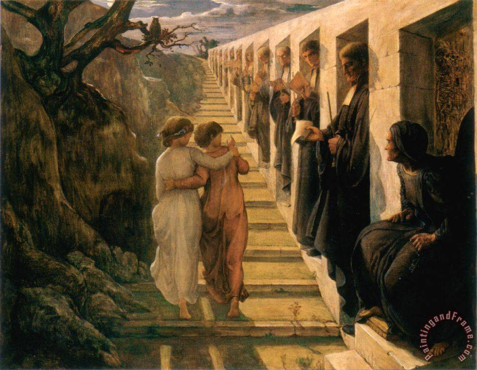 Anne Francois Louis Janmot The Poem of The Soul The Wrong Path Art Painting