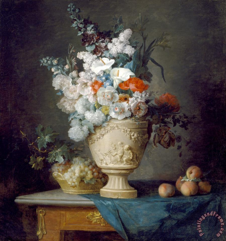 Anne Vallayer Coster Bouquet Of Flowers In A Terracotta Vase With