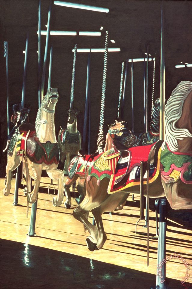 Carousel painting - Anthony Butera Carousel Art Print