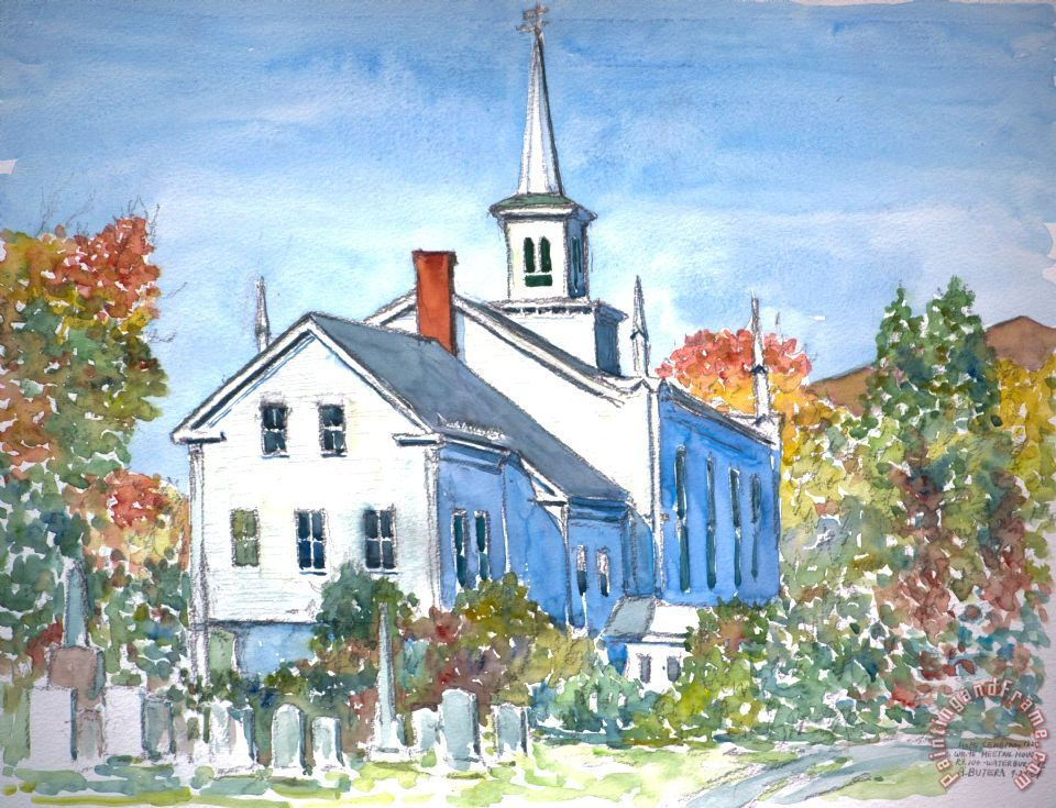 Church Vermont painting - Anthony Butera Church Vermont Art Print