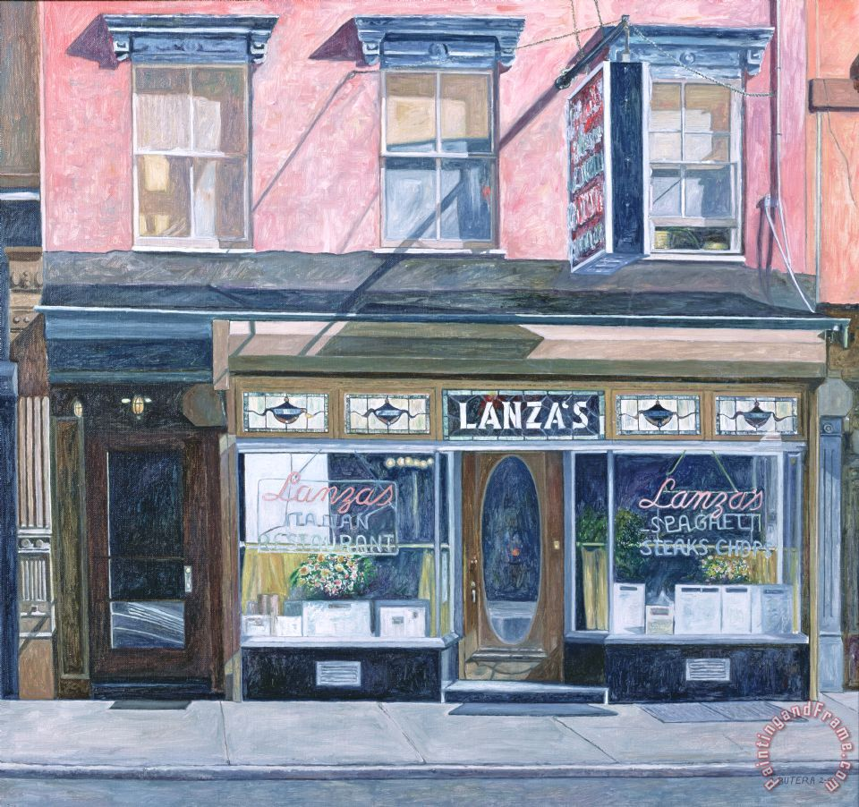 Anthony Butera Lanza's Restaurant 11th Street East Village Art Print